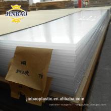 jinbao incassable haute brillance décorative acrylique 2mm 3mm panneaux muraux