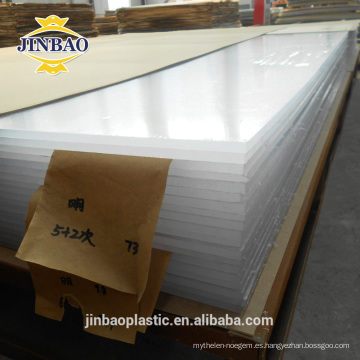 JINBAO 2-10mm color claro láser corte Unti UV 4x8ft Pmma hoja acrílica