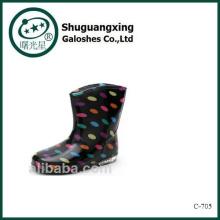 Crystal favorable mignon bottes de pluie imperméable étudiant chaussures avec des bottes de pluie Chilren gelée pour vente C-705
