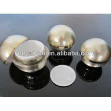 Forma de bola de crema de acrílico Jar envases de cosméticos