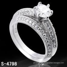 Anel de zircônia de jóias de prata 925 (S-4798. JPG)