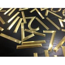 Letras de alfabeto de metal de latón para la oficina de signos al aire libre