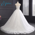 Tulle Simple Elegant Lace Appliques Sexy White Wedding Dress