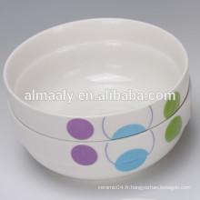 bol en porcelaine en gros avec un nouveau design