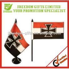 Bandeira de mão personalizada impressa de alta qualidade
