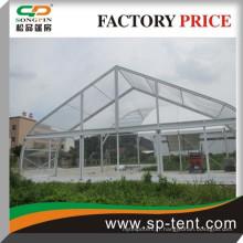 Tentes de marquage courbes transparentes de mariage 20x20m avec couvercle de toit en pvc transparent
