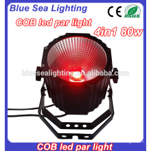 Club dj 80w cob rgbw führte par light zum Verkauf