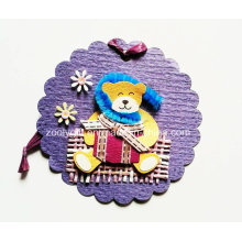 Impresión de etiqueta decorativa colgante / hecho a mano Impreso animal DIY Artesanía de papel