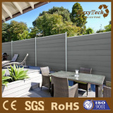 Guangzhou wood plastic composite material privacy garden fence screen