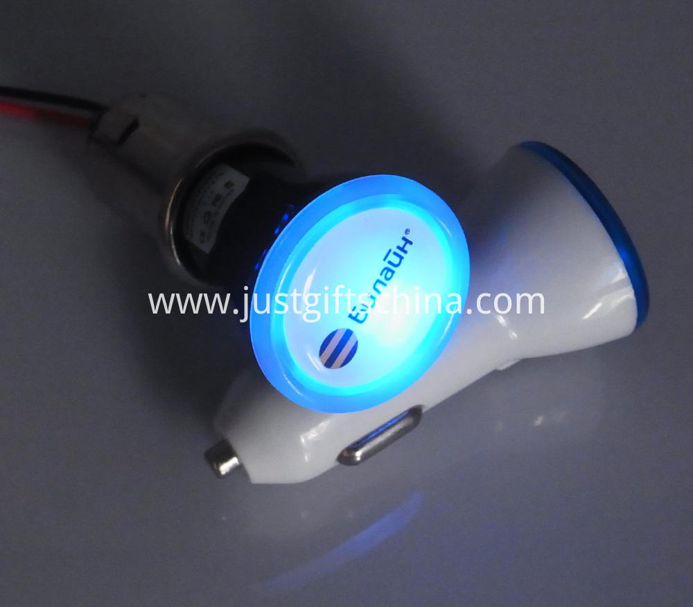 Promotional Imprinted Bright Car Charger Round Shape (5)