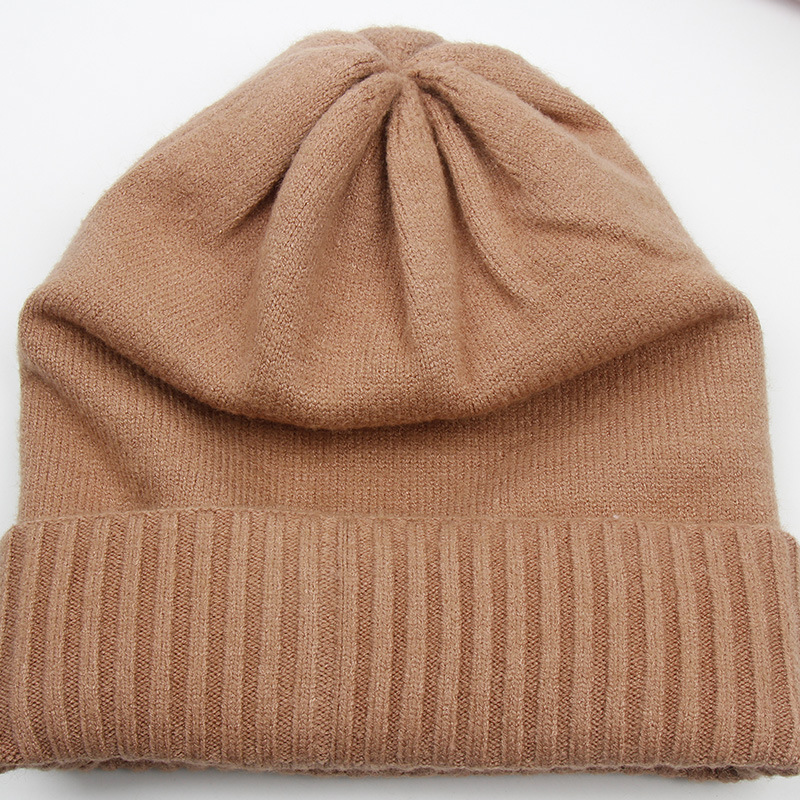 Knitted hat men's woollen handmade winter hat (7)