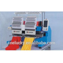 ELUCKY 2015 NEW TYPE two heads Embroidery Machine for Cap/T-Shirt/Flat Embroidery