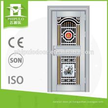 proteção de ferrugem exterior metal portas de segurança em aço inoxidável francês