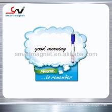 Publicité personnalisée aimants de réfrigérateur papier avec porte-stylo