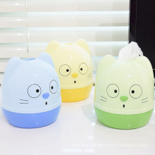 Cute Cat Design Fashionable Plastic Tissue Box (ZJH030)