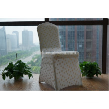 Polyester Lyrca Spandex Gold Design Pattern Banquet Chair Cover