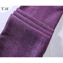 Noble Purple Tapicería Lino Materiales Lotes en Haining