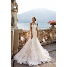 Vestido de novia de moda de encaje sirena 2017 Vestido De Casamento Ver a través de vestidos de novia de vuelta de la vendimia MW2175
