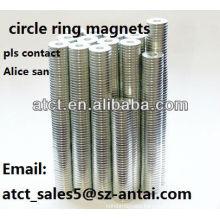 High Grade N52 Circle Neodymium Ring Magnet