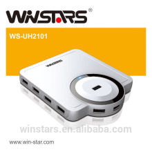 10 ports USB 2.0 480 Mbps HUB avec adaptateur secteur
