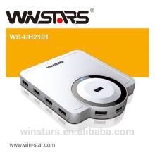 10 Port USB 2.0 480Mbps HUB com adaptador de alimentação
