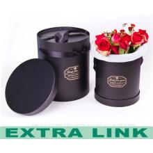 Blumen-Pappschachtel der guten Qualität Papiergeschenk-Blumenkasten runde Form konservierte