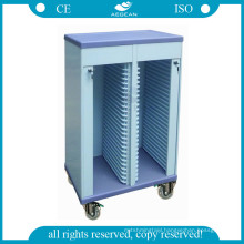 AG-CHT005 ABS material hospital patient case storage history trolley