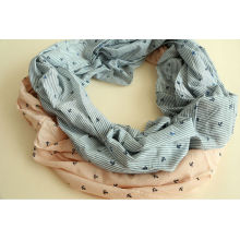 Women's Nautical Anchor Print Infinity Loop Scarf