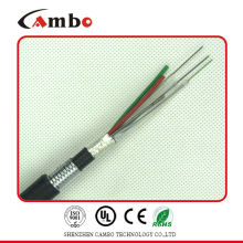 Buried/Duct/Aerial Application mettalic tape armoured multi pairs SM/MM osp fiber optic cable