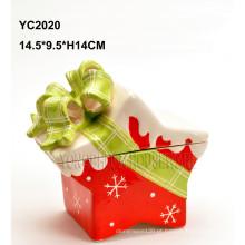 Ceramic Handpainted Caixa De Presente-Star Shape