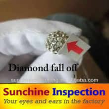 Fashion jewellery & accessories Pre-Shipment Inspection (PSI)/QC services and product quality check before shipment