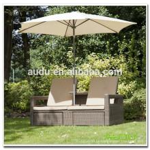 Audu Outdoor Wicker Multi-purpose Swiming Pool Chairs With Umbrella