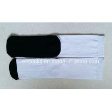 Blank Polyester Socken für Sublimation mit schwarzer Unterseite