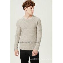 Acrílico lã mista padrão Pullover Men Knitwear