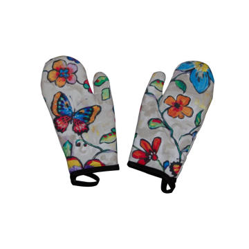 KEFEI good quality Butterfly print and flower oven mitt crafts