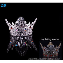 New design full round pageant crown with red crystal boys crown