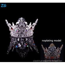 Nova coroa de desfile de design cheio red coroa de meninos vermelhos de cristal