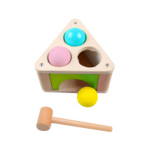 Wooden Triangle Punch Ball Toy for Kids and Children