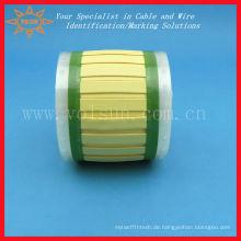 Wärmeschrumpfbare Markierhülsen zur Kennzeichnung von Kabeln und Leitungen