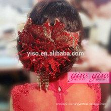 Accesorios hechos a mano tradicionales del pelo de la novia hechos a mano