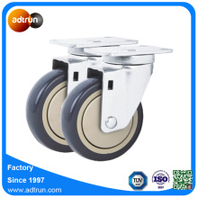4 inci PU Swivel Cart Dolly Wheel Casters