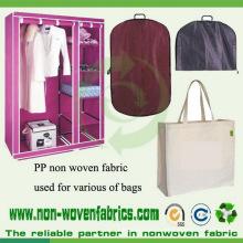 Paño no tejido de polipropileno utilizado para bolsas de ropa