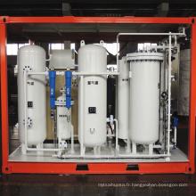 Installation de production d'azote gazeux PSA montée sur châssis