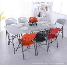 Modern Dining Table Plastic Table Price Foldable Picnic Table