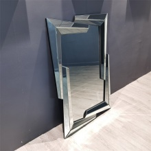 Quadro 3D Retângulo MDF Espelho Suspenso