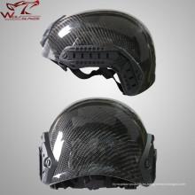 Al aire libre CS táctico combate militar protector fibra de carbono casco