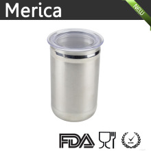Stainless Steel Food Storage Jar with Plastic Lip