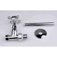 High quality brass steam heat valve chrome plate