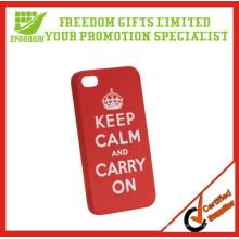 Cas de téléphone portable en plastique adapté aux besoins du client de logo promotionnel