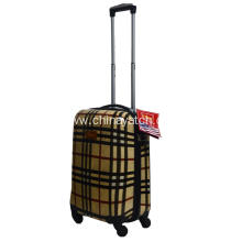 Buberry classical grid printing hardshell luggage